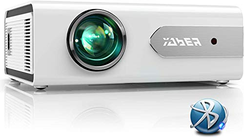 YABER プロジェクター 小型 ハイスペック 5600 ルーメン bluetooth 1920×1080最大解像度 1080PフルHD対応 スマホ/パソコン/タブレット/ゲーム機/DVDプレイヤー/USB接続可 HDMI/AVケーブル付属