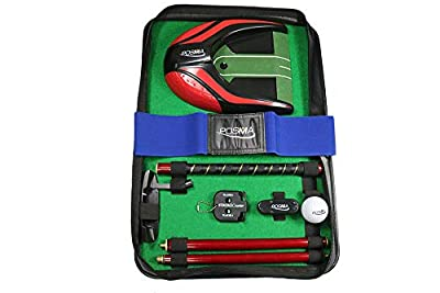 POSMA GSP140RD-A All-in-1 Golf Putting Training Executive Gift Set Perfect Golf Training Putter Gift Set for Indoor Outdoor Golf Practice - Rosewood Putter