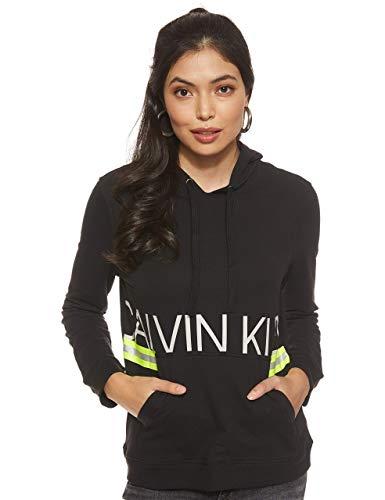Calvin Klein Damen L/S Hoodie Thermounterwäsche-Unterteil, Schwarz (Black 001), 36 (Herstellergröße:S)