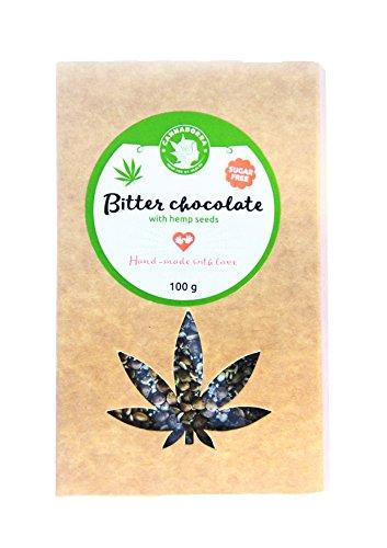 Cioccolato amaro con semi di canapa