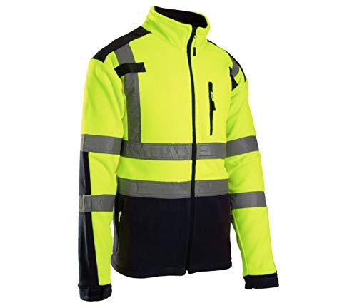Brixton Flash Herren Fleece Jacke Reflektierend Vlies Schutzjacke Arbeitsjacke 320 g/m2 (XL)
