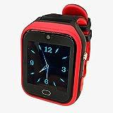 Reloj De Teléfono Inteligente Con Tarjeta 4g Vigilancia De La Presión Arterial De Los Ancianos Temperatura Cardíaca Monitoreo De La Salud Reloj De Posicionamiento Gps Código promedio Rojo