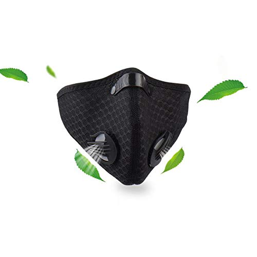 HotMall-US Protective face and Mouth, PM2.5 Activated Carbon Dust-Proof Anti-Fog Soft Warm Cycling Sports Face Washable and Reusable, Face Protection for Women and Men Black 1pc