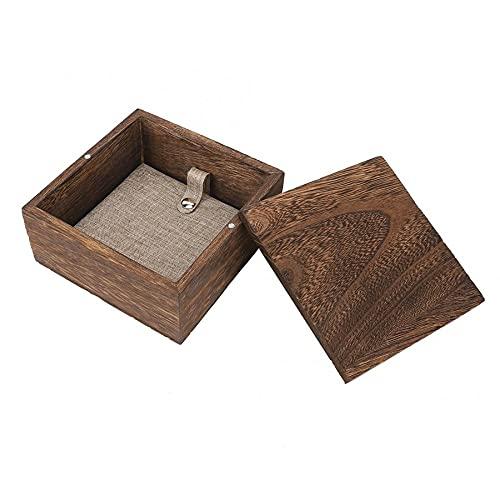 MUY Caja de Almacenamiento Vintage de Madera de Gama Alta Cuadrada Encerada Ches Caja de Almacenamiento de Joyas decoración del hogar contenedor baratija Caja de Basura para Mujeres