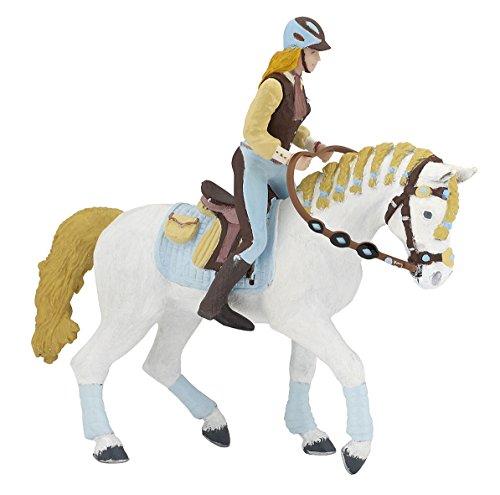 Papo 51545 Pferd der Reiterin Fashion blau, FOHLEN UND PONYS Figur, Mehrfarben