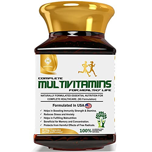 MOUNTAINOR Complete Multivitamins for Men & Women Plant Based with Probiotics. For Energy, Immunity & Overall Healthy Life. Natural Extracts, Minerals, Antioxidant, Nutrient & Amino Acid 90 Veg Caps.