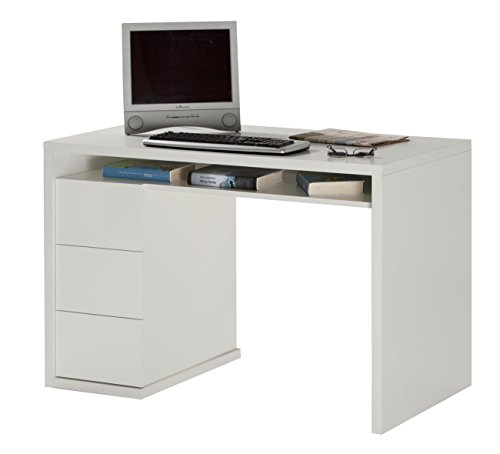 Composad Gran Privilego scrivania, Legno, Laccato Bianco, 60x 110x 75cm