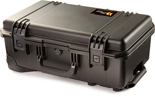 PELI Storm IM2500 Crushproof Carry-On Case for Travel and Photo, Watertight and Dustproof, 45L Capacity, Made in US, No Foam, Black