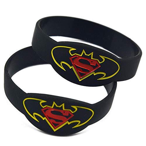Vempires Pulseras De Silicona Para Hombre Fitness Wristbands Batman Vs Superman Musical Band 10 PCS