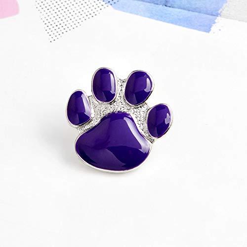 XIAODAN Pin de Pata de Perro púrpura, Broche de Dibujos Animados Lindo, Broche de Pata de Gatito de Gato, alfileres, Insignia de Garra de Cachorro, joyería de Regalo para dueños de Mascotas