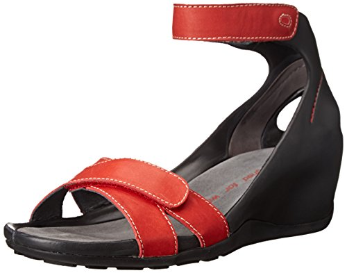 Wolky , Damen Mary Jane Halbschuhe Rot Red Smooth Leather
