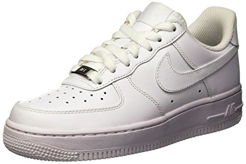 Nike Air Force 1 ´07, Women's Low-Top Sneakers, Weiß (White/White), 5 UK