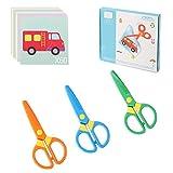 Plastic Safety Scissors, Toddlers Training Scissors, Pre-school Training...