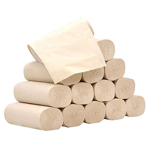 14 Stück Rollenpapier Seidenpapierrolle 4-lagiges verdicktes Haushaltspapier