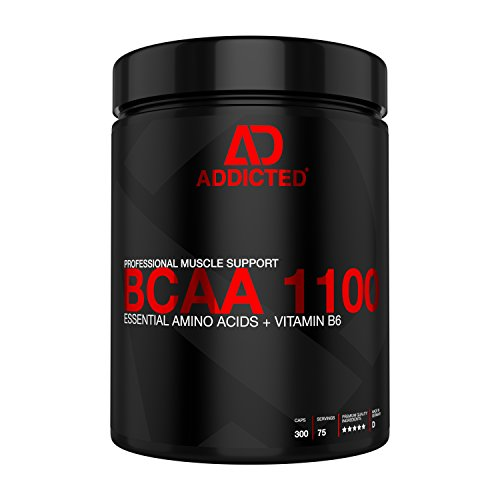 ADDICTED BCAA 1100 – Aminosäuren-Kapseln für den Muskelaufbau – 300 Kapseln