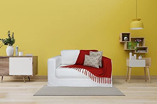 Manta para Sofá em Chenille Extra Macia Colorida Cor:Vermelho Claro