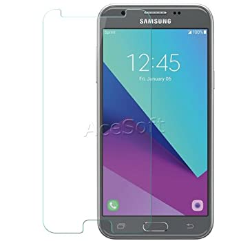 Anti-Scratch Tempered Glass Screen Protector Guard Shield Saver Armor Cover for Samsung Galaxy Amp Prime 2 SM-J327A Cricket