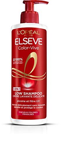 L'Oréal Paris Elsève Low Shampoo Color Vive Waschcreme für coloriertes Haar, 400 ml