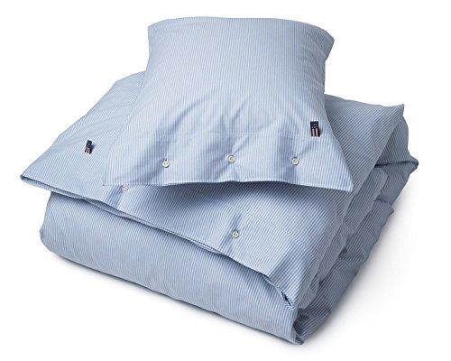 Lexington American Pin Point Oxford Bettbezug, baumwolle, Blau / Weiß, 200x140x0.2 cm