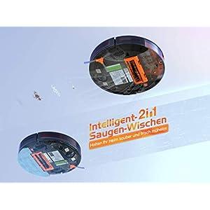 Kyvol E31 Saugroboter mit Wischfunktion Wischroboter mit 2200Pa Saugleistung, Smart Navigation, 150Min. Laufzeit, Funktioniert mit Alexa, Optimiert für Hartböden, Teppiche, Tierhaare
