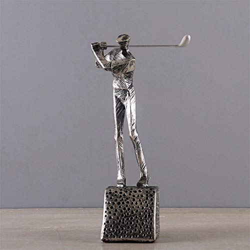 WFSDKN Decoratie Moderne Hars Golf Karakter Beeldje Creatieve Home Decoratie Ambachten Woonkamer TV Kast Cool Golf Man Ornament Decoratie