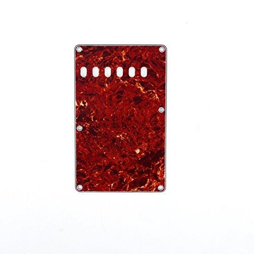 Musiclily 6穴ビンテージタイプ USA/メキシコ ストラト用バックプレート(トレモロカバー)、4プライ茶べっ甲