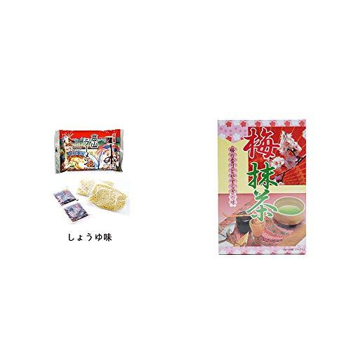 [2点セット] 飛騨高山ラーメン[生麺・スープ付 (しょうゆ味)]・梅抹茶[大](24袋)