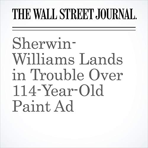 Sherwin-Williams Lands in Trouble Over 114-Year-Old Paint Ad copertina