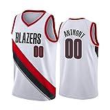 Fei Fei Camiseta de Baloncesto para Hombre Carmelo Anthony Portland Trail Blazers 00#, Camiseta Transpirable de Secado, Tops Deportivos Retro Gym,3,S