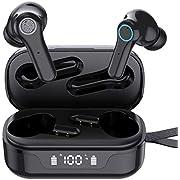 Bluetooth Kopfhörer in Ear Kabellos Kopfhörer [Upgrade V5.1 ]Deep Bass Sport Wireless Kopfhörer 30H Spielzeit USB-C Quick Charge Touch Control In Ear Earbuds IPX7 Wasserdicht TWS Ohrhörer mit Mikrofon