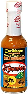 El Yucateco Caribbean Habanero Hot Sauce, 4oz Bottle
