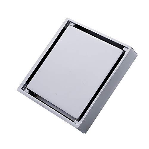 Bodenablauf Stealth-Anti-Blocking-Kupfer Bodenablauf Bodenablauf Abwasser Abwasserableitung Bad Küche Balkon (silber) für Badezimmer Duschraum Toilette ( Color : Silver , Size : 10 x 10 x 5 cm )