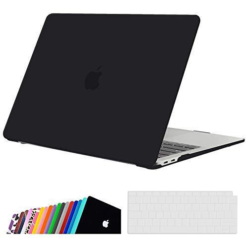 iNeseon Funda para 2020/2019/2018 MacBook Air 13 Retina, Protectora Rígida Carcasa y Cubierta del Teclado para MacBook Air 13 Pulgadas A2337(M1)/ A2179/ A1932 con Touch ID, Negro