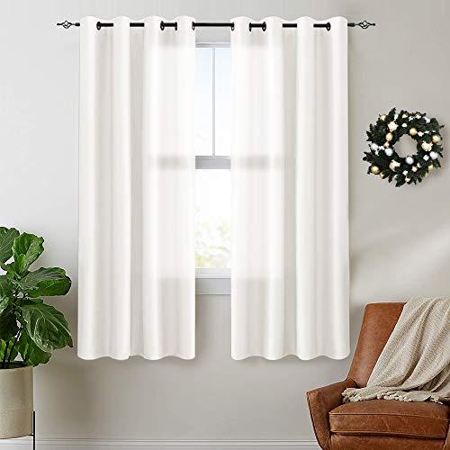 cortinas cortas blancas habitacion