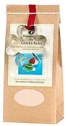 Chiemgaukorn Bio Chiemgauer Glücks-Keks, Backmischung mit Keks-Ausstecher 270 g