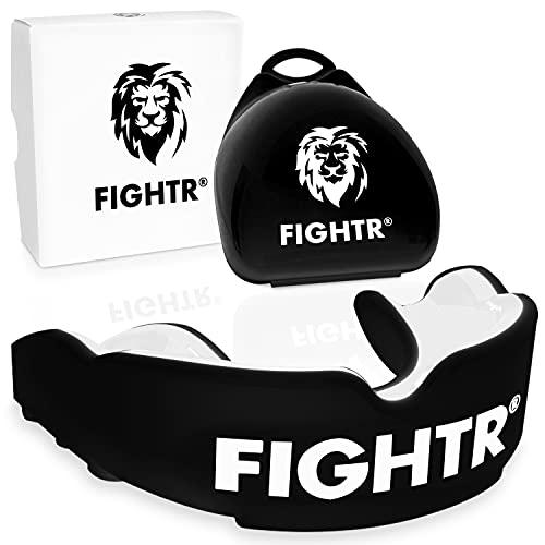 FIGHTR Paradenti di Alta qualità - respirazione Ideale & Facilmente Adattamento | Paradenti per Boxe, MMA, Muay Thai, Hockey | incl. Box igiene