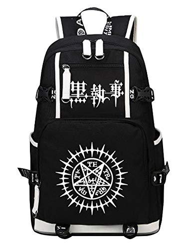 siawasey Black Butler Cosplay Luminous Segeltuch Rucksack Schultertasche Schule Tasche für 38,1cm Laptop