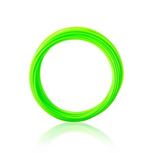 3D Pen Printer Filament PLA 20 Packs 1.75mm Filament Refills 32.8 Feet Linear for Each (Green)