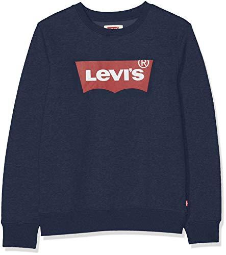 Levis Kids Lvb Batwing Crewneck Pulls Garçon Bleu (Dress Blues) 12 ans