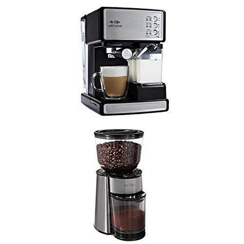 Mr. Coffee Cafe Barista Espresso Maker and BVMC-BMH23 Automatic Burr Mill Grinder Bundle