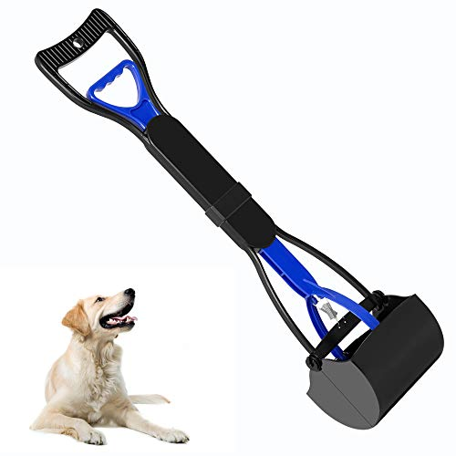 UPSKY Pet Pooper Scooper for Dogs and Cats with Long Handle, Durable Spring and Premium Materials,Easy to Use for Grass, Dirt, Gravel Pick Up