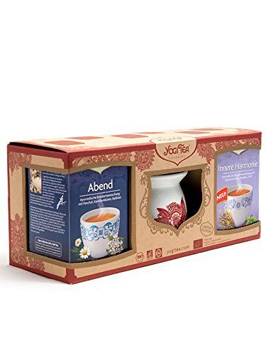 2 x Geschenkset YogiTea Stövchen + Tasse + 4 x Yogi Tea