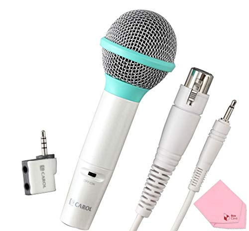CAROL Dynamic Microphone Set with Portable Carrying Case for iOS Devices (ICT-12+GS-77S) | Turns iPhone/iPad Into Karaoke Machine (Green)