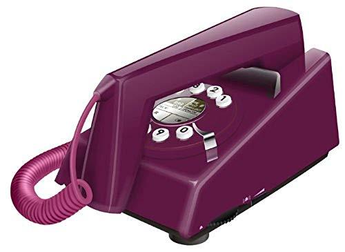 Geemarc Telecom Retro Trimline - Teléfono fijo retro, color violeta (importado de Inglaterra)
