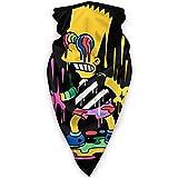ザ シンプソンズ The Simpsons フェイスカバー ネックガード 多機能チューブ型 マジックスカーフ SOFT ターバン ヘッドバンド 吸汗速乾 柔らかい バンダナ 男女兼用 リストバンド 日焼け防止 UVカット 紫外線対策 釣り 自転車 登山 アウトドア