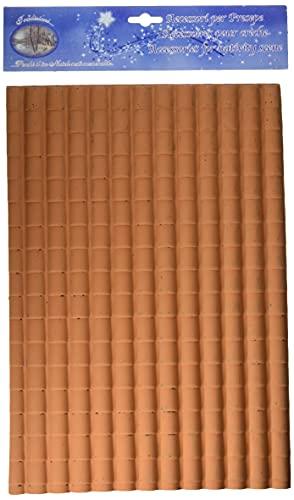 ROSSI ROSA Pannello Tetto Tegole Grandi, Multicolore, 35 X 25 Cm