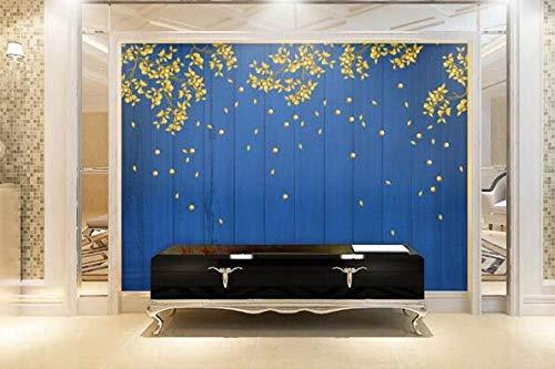 Muurschildering wallpaper goud Apple retro poster kantoor bibliotheek woonkamer slaapkamer decoratie foto wallpaper 200cmx140cm