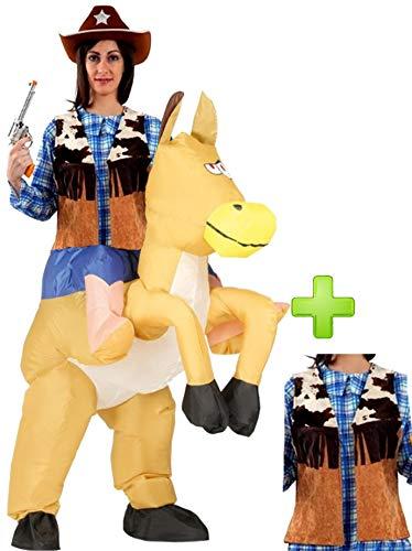 Disfraz de Caballo hinchable con chaleco
