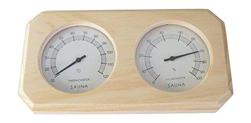 Relsuna, termometro e igrometro da sauna, in legno