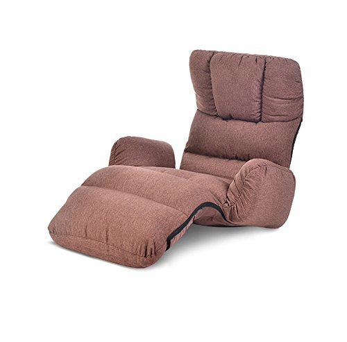 XING-ZI-LAZY-SOFA C-K-P Canapé, Maison Simple Pliante Paresseux Chaise lit Simple Fauteuil Balcon Balcon Chaise Longue Fauteuil inclinable (Couleur : Brown)